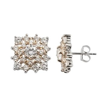 a981591a2 Emotions Sterling Silver Openwork Square Stud Earrings - Made wi