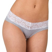 Candie's Microfiber Lace-Trim Hipster