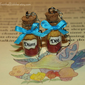 Alice in Wonderland Tweedledee and Tweedledum Earrings Inspired by Disney Life is the Bubbles