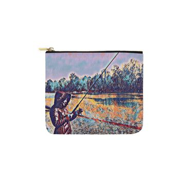 Levi Thang Fishing Design 10 Carry-All Pouch 6''x5''