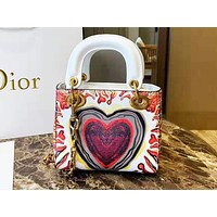 DIOR popular shopping shoulder bag with printed heart for casual ladies