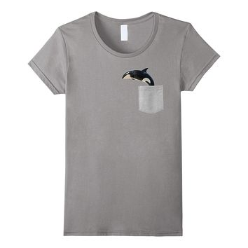 Animal in Your Pocket Killer Whale- Orca Orcinus- t-shirt