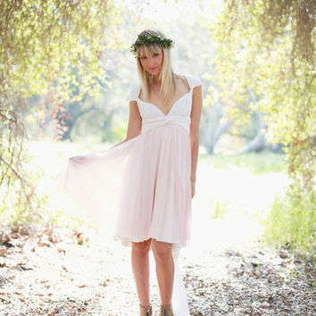 Pink Swan Chiffon Octopus Infinity Wrap Dress- Bridesmaids, Wedding