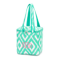 Mint Green Ikat Cooler Tote