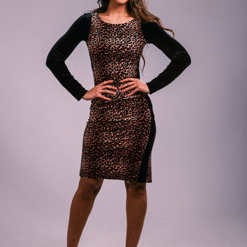 Leopard print dress, flattering dress, party dress, elegant dress, cocktail dress, prom dress