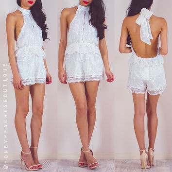 Bittersweet Symphony Playsuit - White