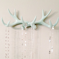 Faux Deer Antler Rack Mint Jewelry Holder Scarf Holder Mug Holder
