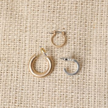 Mini Hoops Earring Set