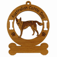 1302 Australian Cattle Dog Standing Ornament Personalized with Your Dog's Name