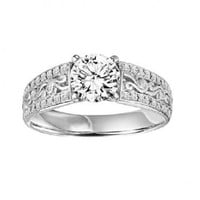 1ct tw Diamond Engagement Ring in 14K White Gold - Designer Prototypes - Engagement Rings