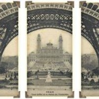 Timeworks Clocks Eifel Tower Ironwork Wall Panels Set of 3