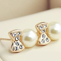 Cute Elegant Fashion Bowknot Rhinestone Bead S from styleonline