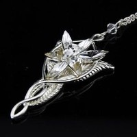 sterling silver Arwen evenstar pendant necklace LOTR