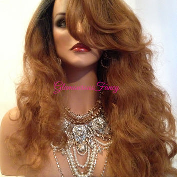 """Spanish Europa Ombre' Blonde Curly Lace Front Wig 22"""""""