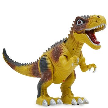 Kids Toy Walking Dinosaur Toy Figure With Lights & Sounds, Real Movement Tyrannosaurus Rex Durable ABS plastic Swaying Tail