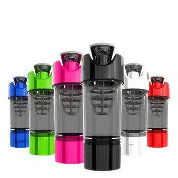 High Quality Protein Shaker Water Bottle Fitness Sport Yoga Plastic Bottle Multi Functional