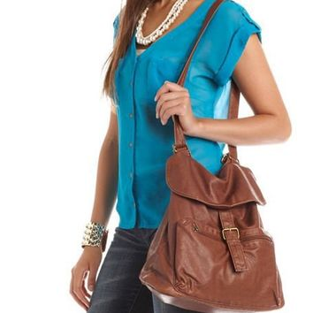 Convertible Leatherette Bag: Charlotte Russe