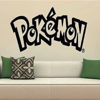 Pokemon Logo Anime Cartoon Wall Art Sticker Decal 1761