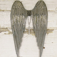 Angel Wings Wall Decor,Large Angel Wings,Angel Wall Decor,Spiritual Memorial,Spiritual Gift,Religious Gift,Baby Nursery,Guardian Angel