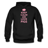 Keep calm and love Pigs hoodie sweatshirt tshirt