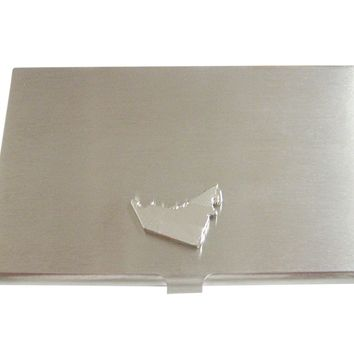 United Arab Emirates UAE Map Shape and Flag Design Business Card Holder