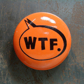 magnet wtf clementine by CircaCeramics on Etsy