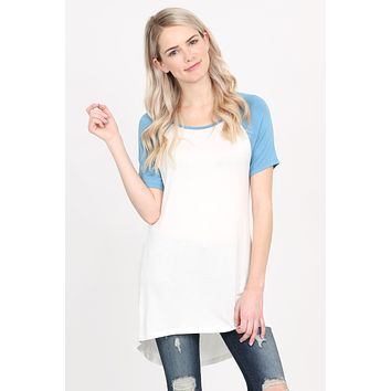 Short Sleeve Raglan Top