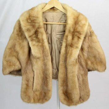 Vintage Ladies Autumn Haze Honey Blonde Mink Fur Coat