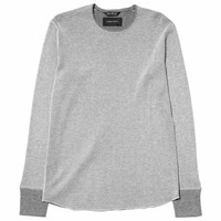 Cotton Cashmere Thermal Long Sleeve Smoke