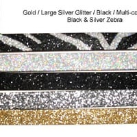 Fun & Sassy Solid Large Silver Sparkly Bling Glitter With Rhinestone License Plate Frame Caps