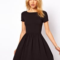 Short Sleeve Jersey Mini Dress
