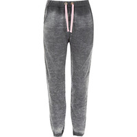 River Island Girls grey burnout joggers