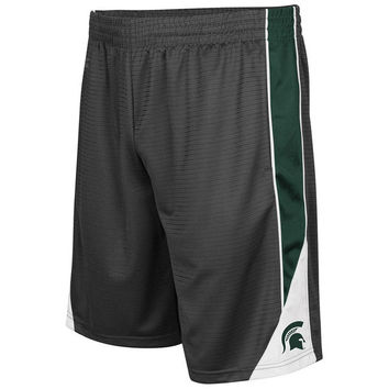 Men's Colosseum Charcoal Michigan State Spartans Turnover Shorts