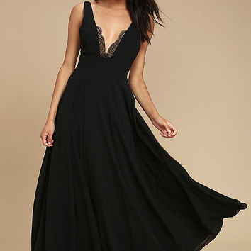 True Bliss Black Maxi Dress