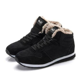 New Arrival Fashion Men Winter Boots Keep Warm Plush Ankle Boot Snow Work shoes Outdoo