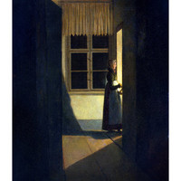The Woman with the Candlestick, 1825 Giclee Print by Caspar David Friedrich at Art.com