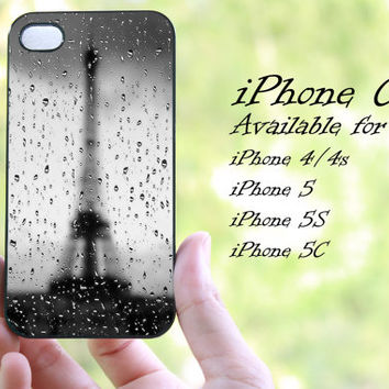 rainy paris design iphone case for iphone 4 case, iphone 4s case, iphone 5 case, iphone 5s case, iphone 5c case