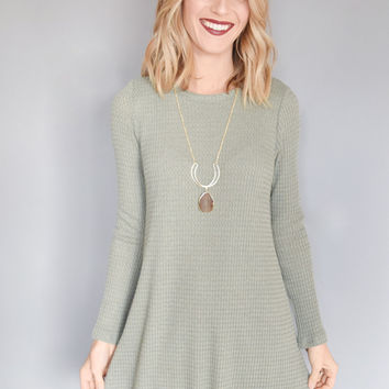 Snow Day Thermal Dress Dusty Sage