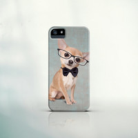 iPhone 5/5S/5C Case, iPhone 4/4S Case, Galaxy S5/S4/S3 Case - Mr. Chihuahua portrait - dog art, pet, gift, smartphone, tablet, design, funny