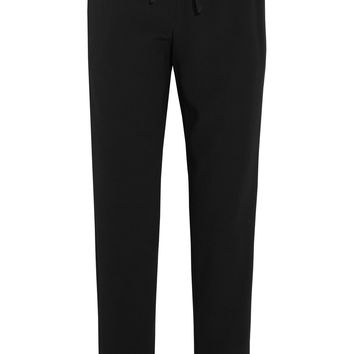DKNY - Satin-trimmed crepe straight leg pants