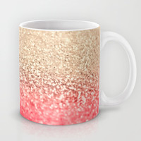 GATSBY CORAL GOLD Mug by Monika Strigel