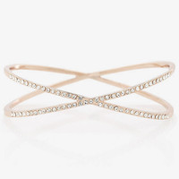 PAVE EMBELLISHED CRISSCROSS BANGLE from EXPRESS