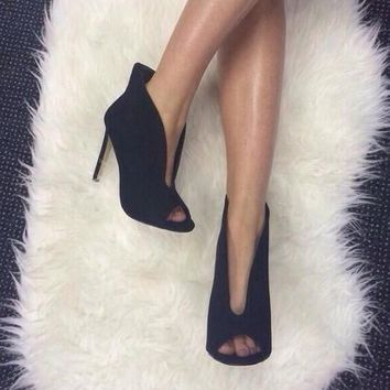 One-nice™ High heels with v-mouth pumps with high-heeled sandals shoes