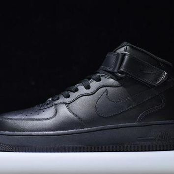 DCCKU62 Originals Nike Air Force One 1 Mid All Black AF1 '07 315123-001