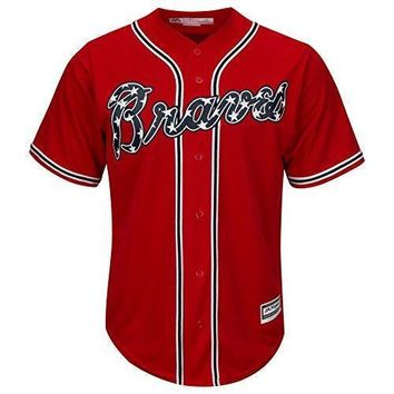 Atlanta Braves Alternate Red Cool Base Men's Jersey