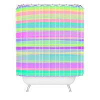 Rebecca Allen A Thousand Stripes I Love You Shower Curtain