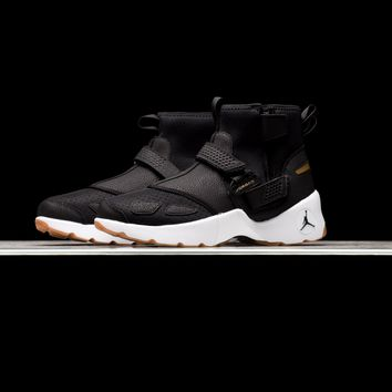 AA QIYIF Air Jordan Trunner LX High - Black/White/Metallic Gold