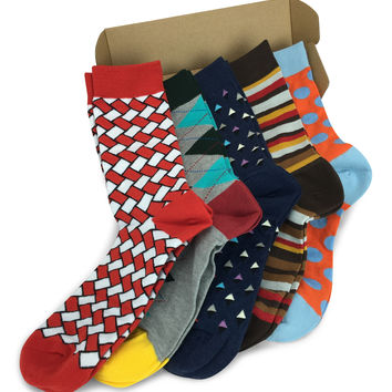 5 Pairs Men's Power Socks - Gate Check