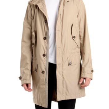 Simon Spurr Sateen Parka in Tobacco