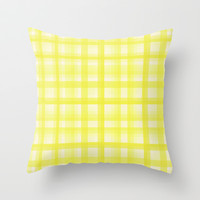 Country Plaid Citrus Throw Pillow by Lisa Argyropoulos
